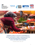 Barriers & facilitators to women's participation report cover
