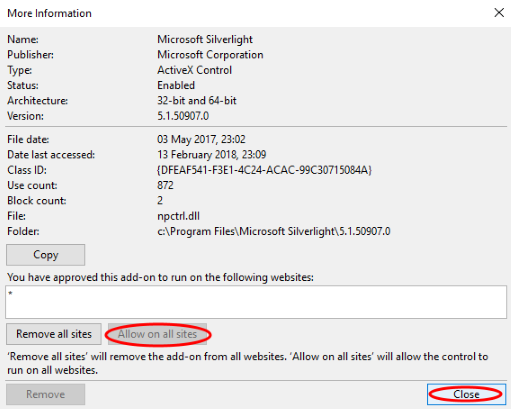 MS Silverlight not loading
